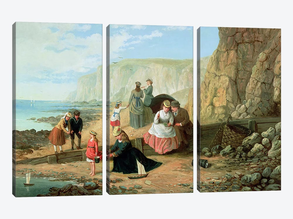 A Day at the Seaside by William Scott 3-piece Canvas Wall Art