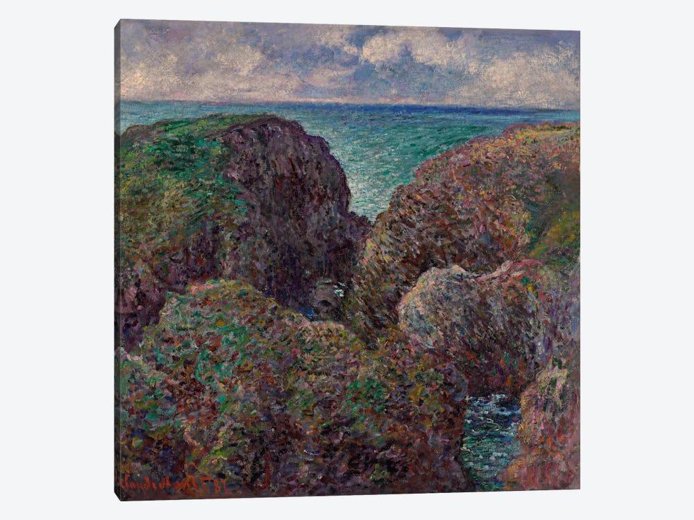 Block of Rocks at Port-Goulphar (Bloc de rochers à Port-Goulphar), 1887  by Claude Monet 1-piece Canvas Print