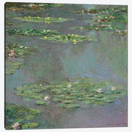 Water Lilies, 1905  Canvas Print #BMN6087} by Claude Monet Canvas Wall Art