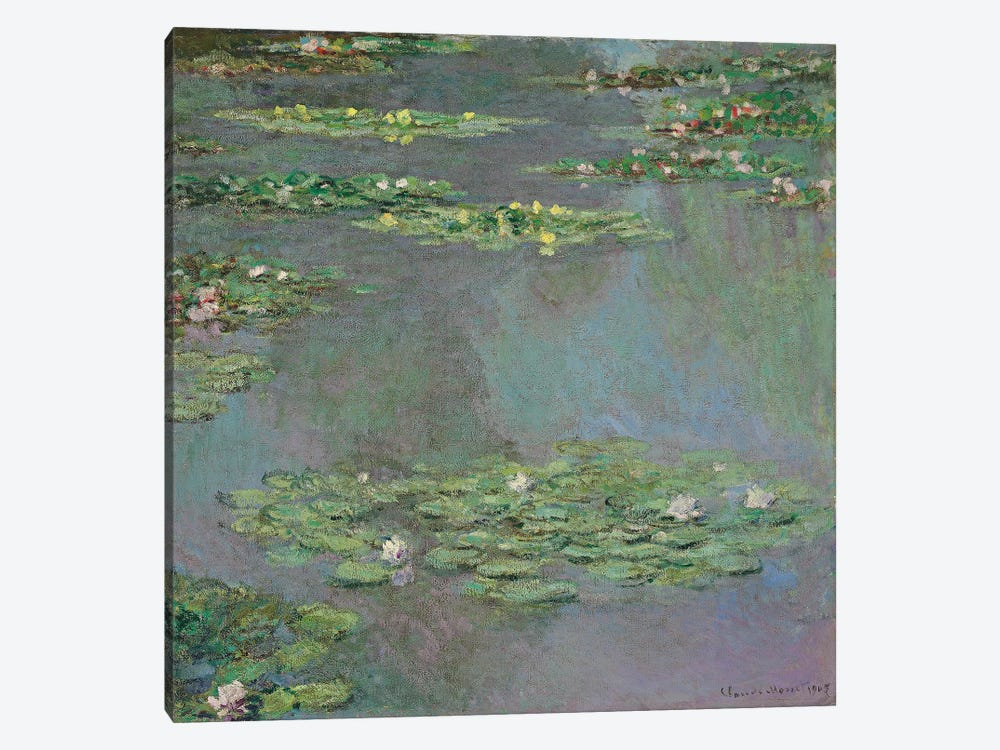 Water Lilies, 1905  by Claude Monet 1-piece Canvas Wall Art