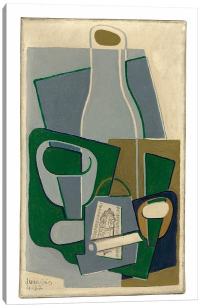 Pipe et Paquet de Tabac, 1922  Canvas Art Print
