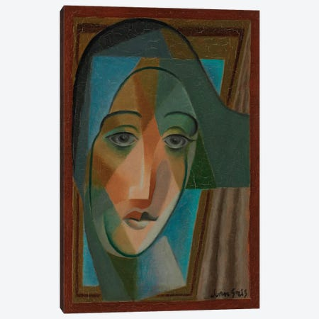 Head of a Harlequin, 1924  Canvas Print #BMN6089} by Juan Gris Canvas Print