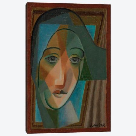 Head of a Harlequin, 1924  Canvas Print #BMN6089} by Juan Gris Canvas Print