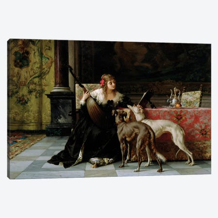 Sympathetic Friends Canvas Print #BMN608} by Florent Willems Canvas Wall Art