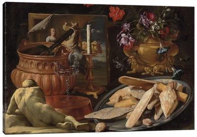 Allegory of the five senses  Canvas Art Print