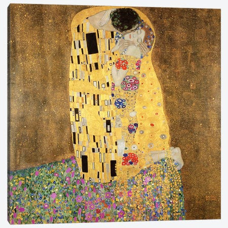 The Kiss Canvas Print #BMN6096} by Gustav Klimt Canvas Print