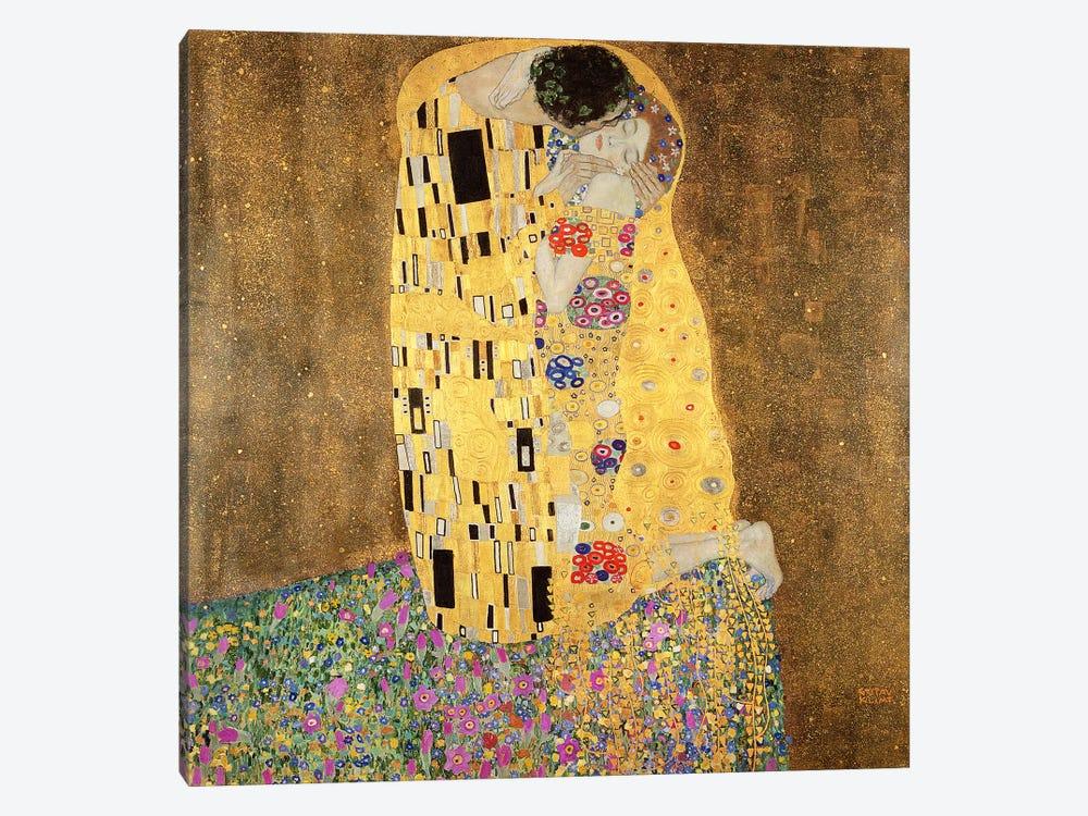 The Kiss Art Print by Gustav Klimt | iCanvas