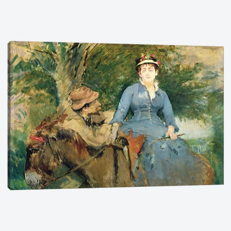 The Donkey Ride, 1880  Canvas Print #BMN609} by Eva Gonzales Canvas Wall Art