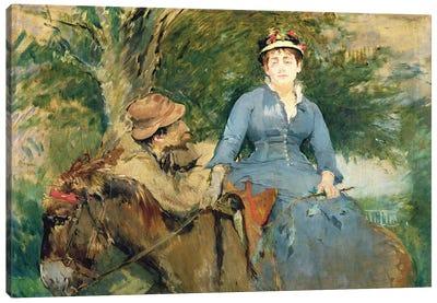 The Donkey Ride, 1880  Canvas Art Print