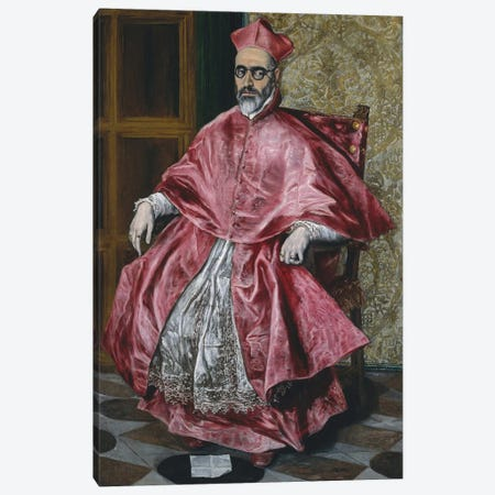 A Cardinal, c.1601 Canvas Print #BMN6100} by El Greco Canvas Artwork