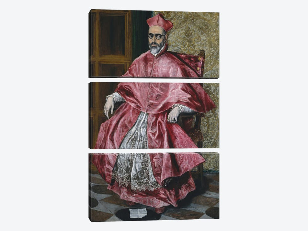 A Cardinal, c.1601 by El Greco 3-piece Canvas Art