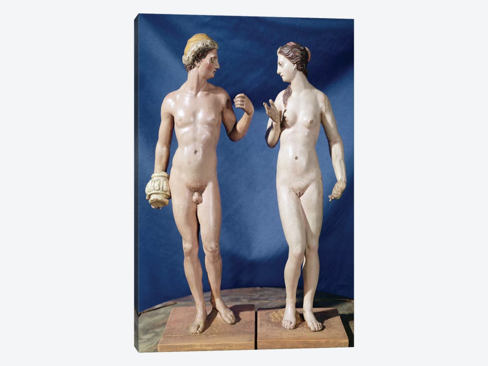 Adam And Eve (Painted Plaster) by El Greco 1-piece Canvas Artwork