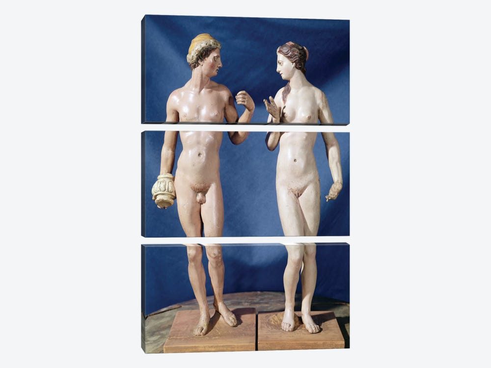 Adam And Eve (Painted Plaster) by El Greco 3-piece Canvas Wall Art