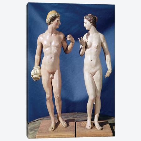 Adam And Eve (Painted Plaster) 3-Piece Canvas #BMN6102} by El Greco Canvas Wall Art