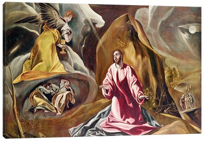 Agony In The Garden Of Gethsemane, c.1590's (National Gallery - London) Canvas Print #BMN6105