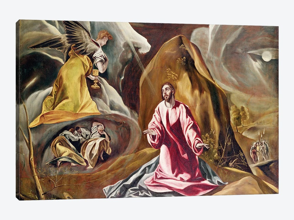 Agony In The Garden Of Gethsemane, c.1590's (National Gallery - London) by El Greco 1-piece Art Print