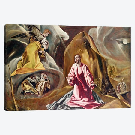Agony In The Garden Of Gethsemane, c.1590's (National Gallery - London) Canvas Print #BMN6105} by El Greco Canvas Print