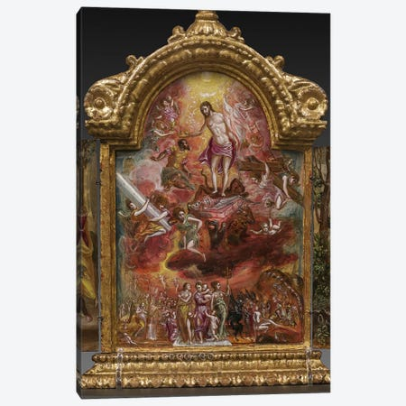 Allegory Of The Christian Knight (Front Side Of Central Panel From El Greco's Portable Altar) Canvas Print #BMN6106} by El Greco Canvas Print
