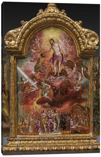 Allegory Of The Christian Knight (Front Side Of Central Panel From El Greco's Portable Altar) Canvas Print #BMN6106