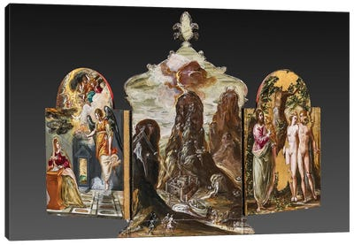 Back Side Of El Greco's Portable Altar Canvas Art Print