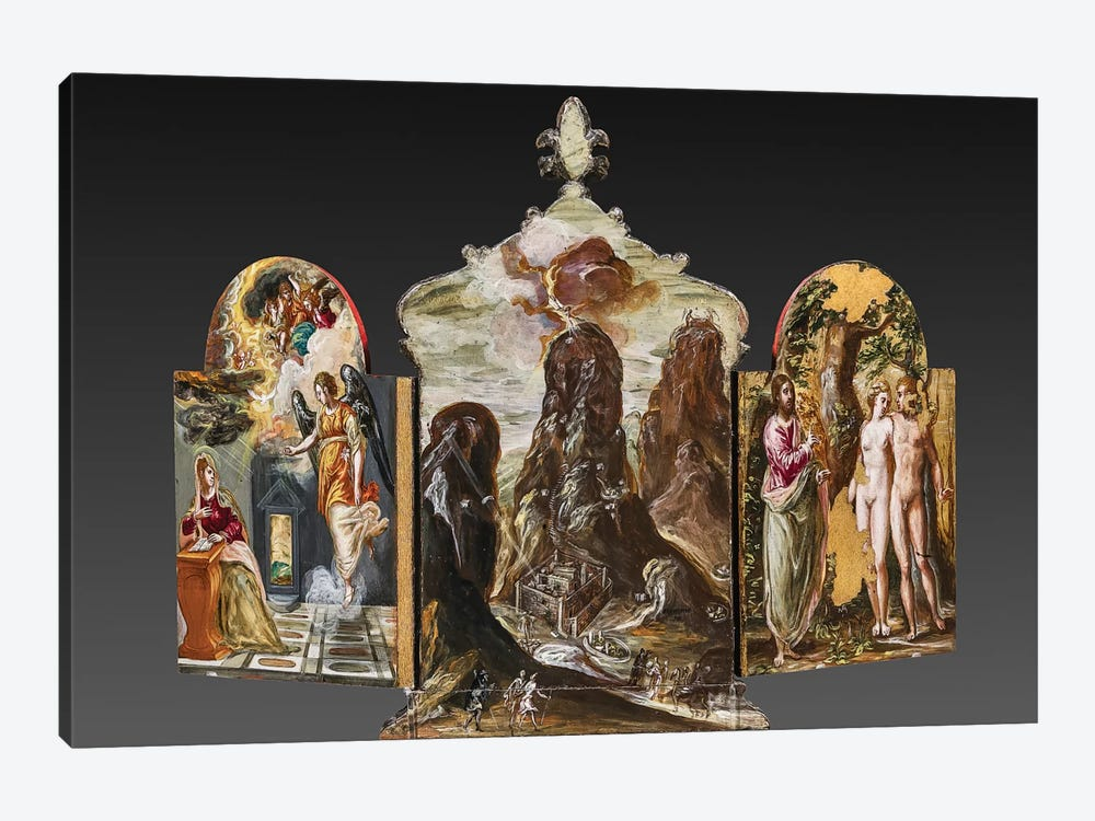 Back Side Of El Greco's Portable Altar by El Greco 1-piece Art Print