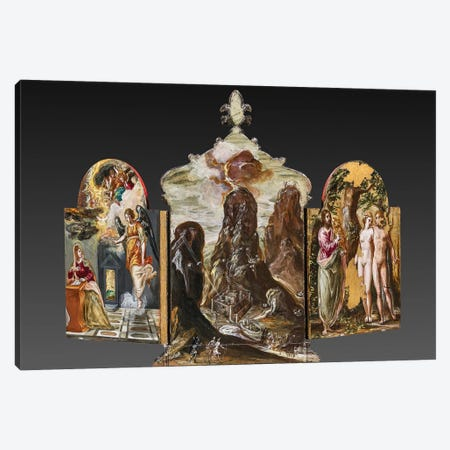 Back Side Of El Greco's Portable Altar Canvas Print #BMN6107} by El Greco Art Print