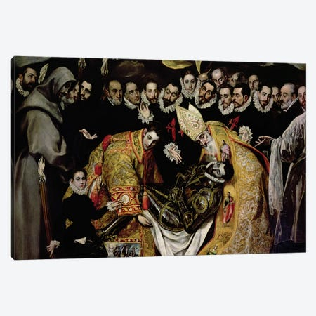 Bottom Half In Detail, The Burial Of Count Orgaz (Illustration of a Local Legend), 1586-88 Canvas Print #BMN6108} by El Greco Canvas Art