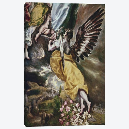 Bottom Half In Detail, The Immaculate Conception, 1607-13 Canvas Print #BMN6109} by El Greco Canvas Wall Art