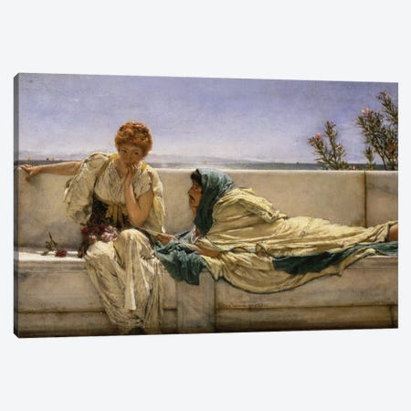 Pleading, 1876  Canvas Print #BMN610} by Sir Lawrence Alma-Tadema Art Print