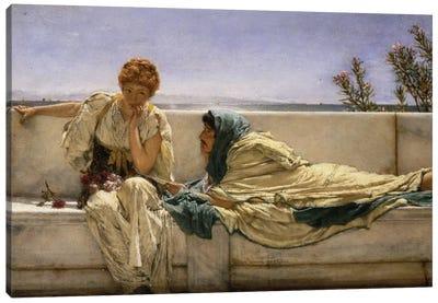Pleading, 1876  Canvas Art Print