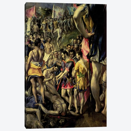 Bottom Left In Detail, The Martyrdom Of St. Maurice, 1580-83 Canvas Print #BMN6110} by El Greco Canvas Print