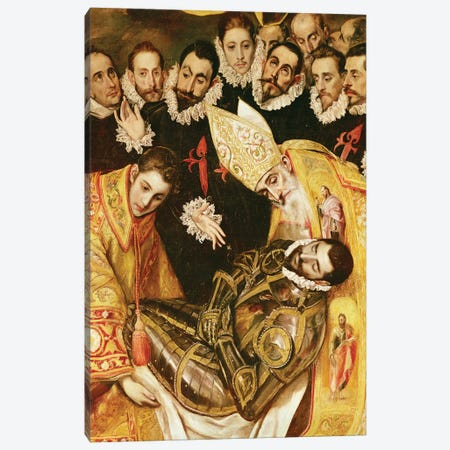 Bottom Middle In Detail, The Burial Of Count Orgaz (Illustration of a Local Legend), 1586-88 Canvas Print #BMN6111} by El Greco Art Print