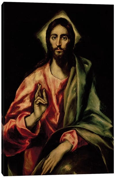 Christ Blessing Canvas Art Print