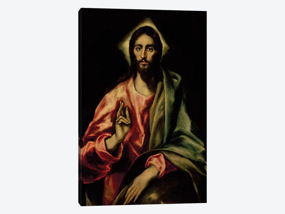 Christ Blessing by El Greco 1-piece Canvas Print