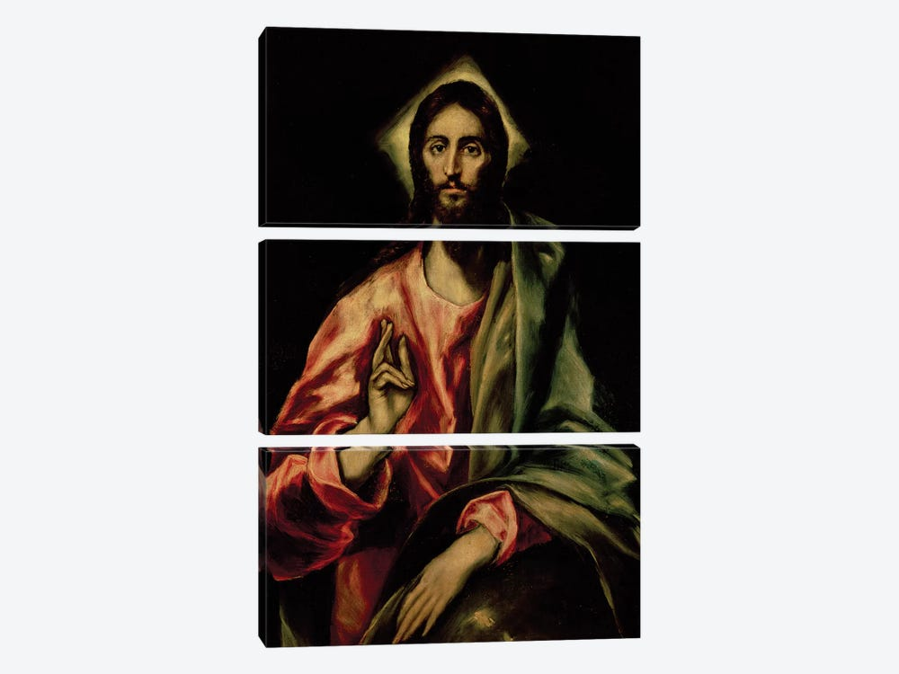 Christ Blessing 3-piece Canvas Print
