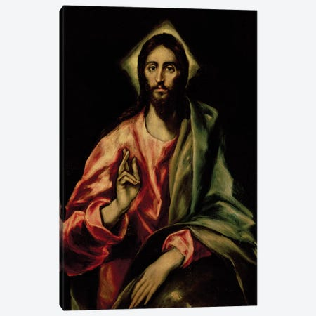 Christ Blessing Canvas Print #BMN6114} by El Greco Canvas Art