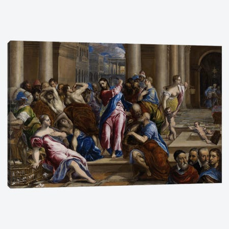 Christ Driving The Money Changers From The Temple, c.1570 Canvas Print #BMN6116} by El Greco Canvas Artwork