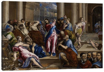 Christ Driving The Money Changers From The Temple, c.1570 Canvas Art Print