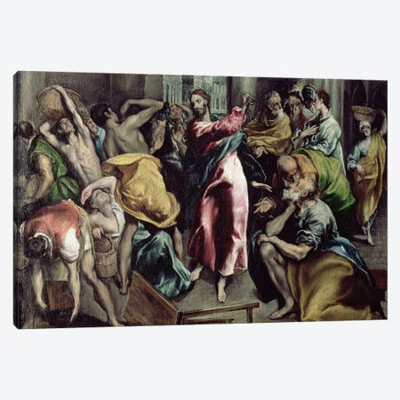 Christ Driving The Traders From The Temple, c.1600 Canvas Print #BMN6117} by El Greco Canvas Art