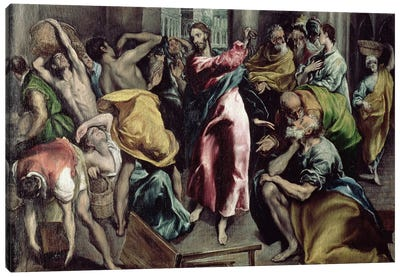 Christ Driving The Traders From The Temple, c.1600 Canvas Art Print