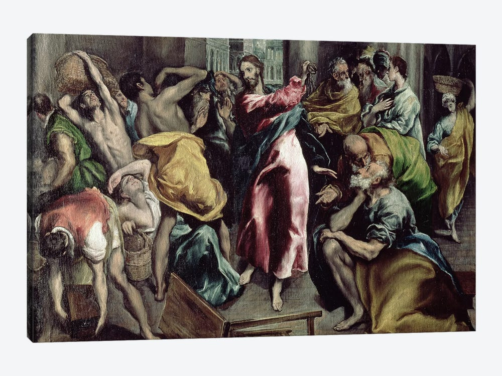 Christ Driving The Traders From The Temple, c.1600 by El Greco 1-piece Canvas Wall Art