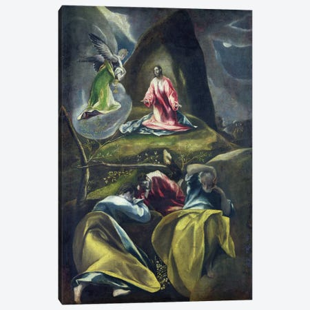 Christ In The Garden Of Olives Canvas Print #BMN6118} by El Greco Canvas Art Print
