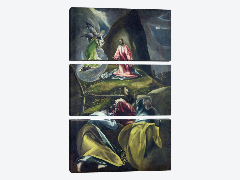 Christ In The Garden Of Olives by El Greco 3-piece Canvas Art Print