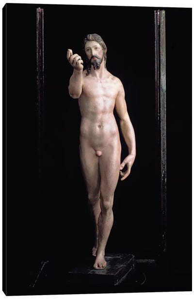Christ Resurrected (Painted Plaster) Canvas Art Print