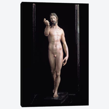 Christ Resurrected (Painted Plaster) Canvas Print #BMN6119} by El Greco Canvas Print