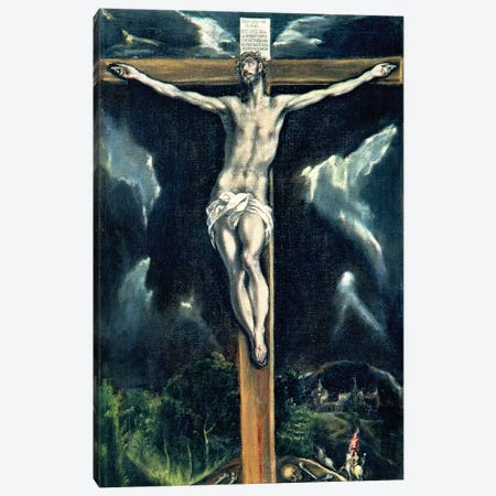 Crucifixion (Casa y Museo del Greco) Canvas Print #BMN6120} by El Greco Canvas Artwork