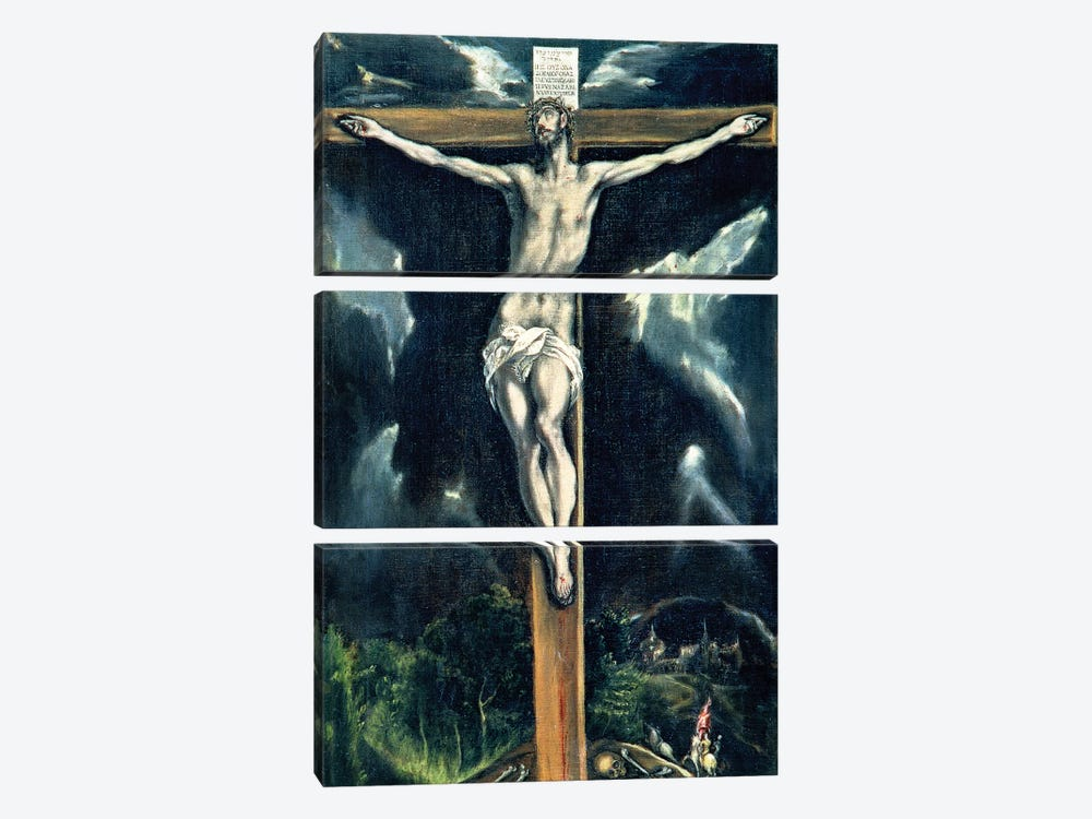 Crucifixion (Casa y Museo del Greco) 3-piece Canvas Artwork