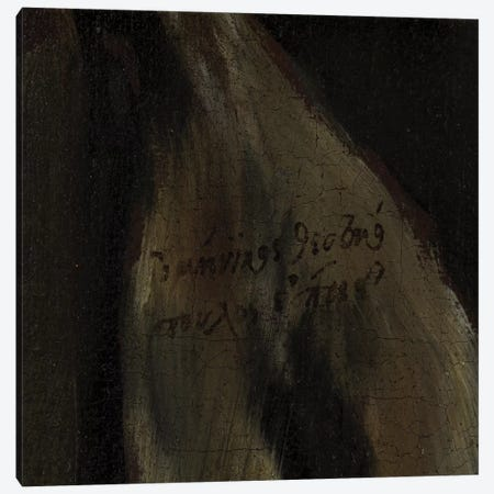 Detail Of El Greco's Signature, The Penitent Saint Peter, c.1590-95 (San Diego Museum Of Art) Canvas Print #BMN6126} by El Greco Canvas Print