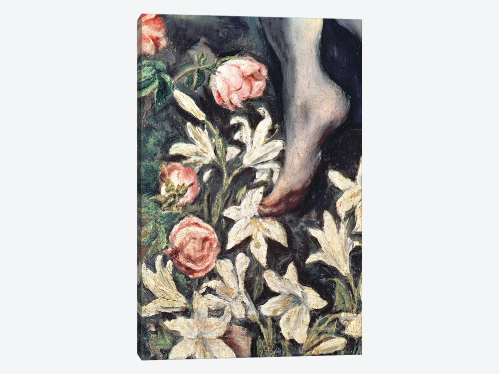 Detail Of Flowers, The Immaculate Conception, 1607-13 1-piece Canvas Print