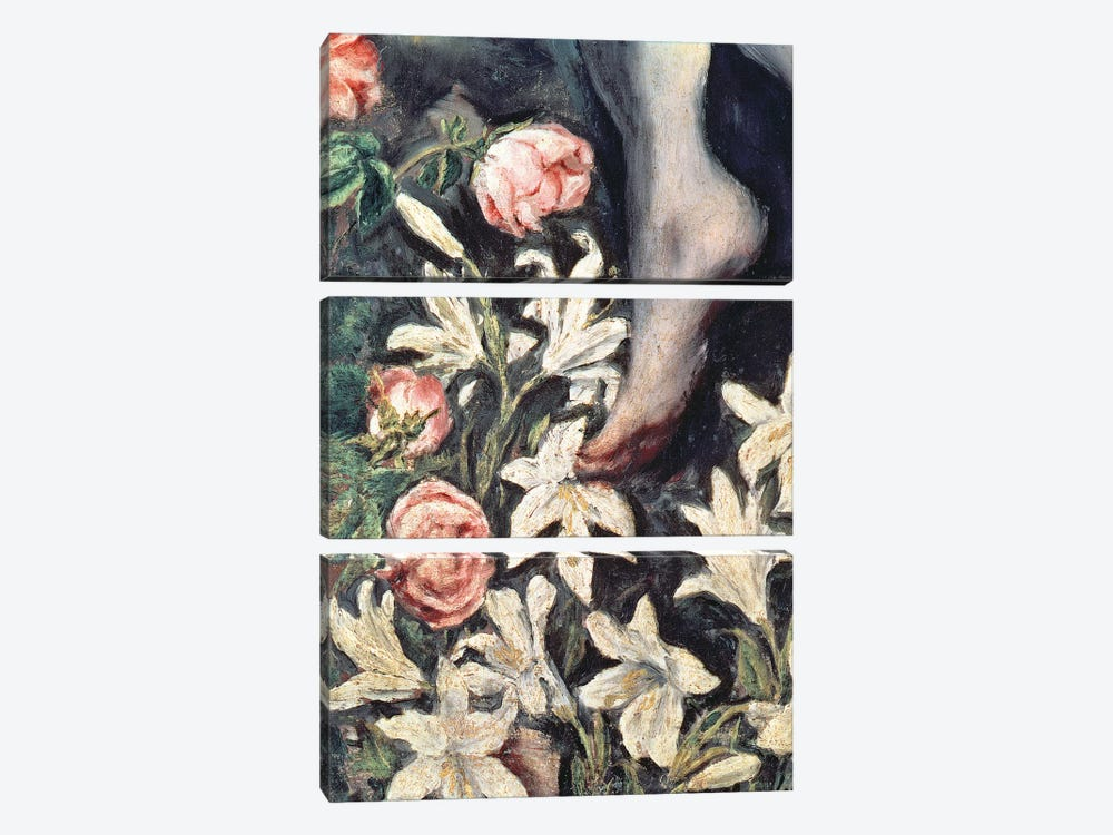 Detail Of Flowers, The Immaculate Conception, 1607-13 3-piece Art Print